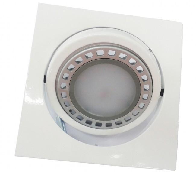 CONJUNTO - Lâmpada AR111 GU10 + Spot Quadrado em Alumínio Fundido com Pintura Eletrostática
