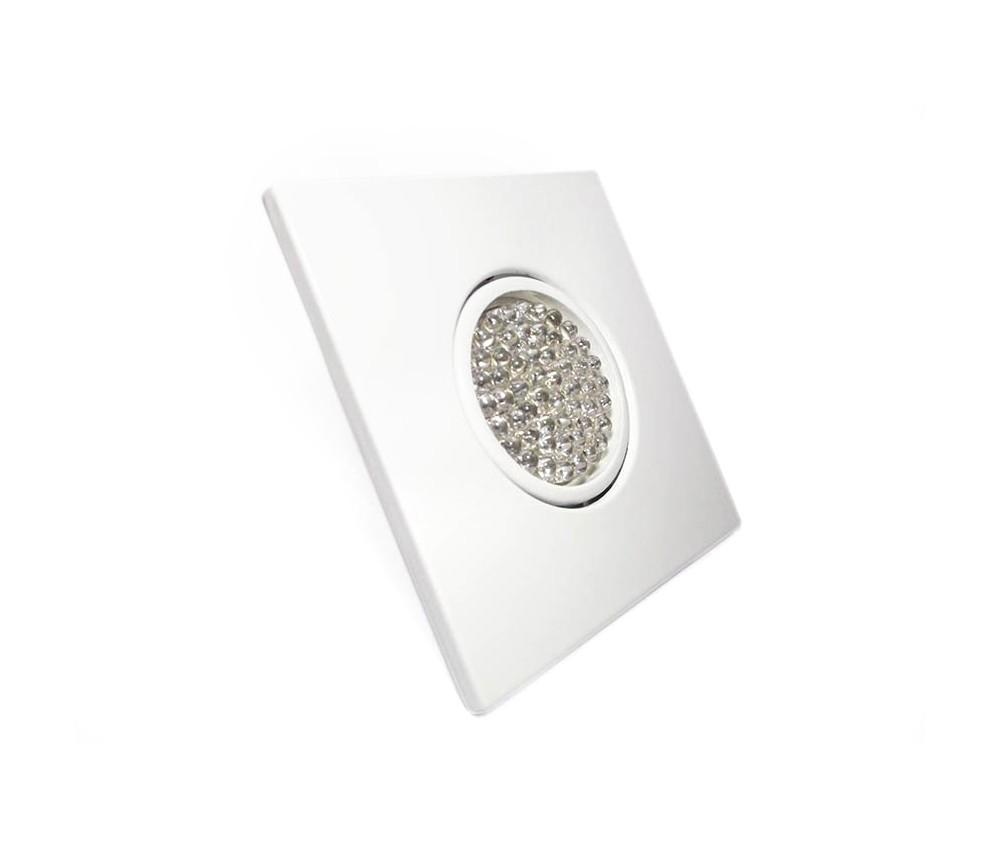 CONJUNTO  Lâmpada 54 LEDs GU10 + Spot Quadrado  Sistema Click em Alumínio Fundido com Pintura Eletrostática