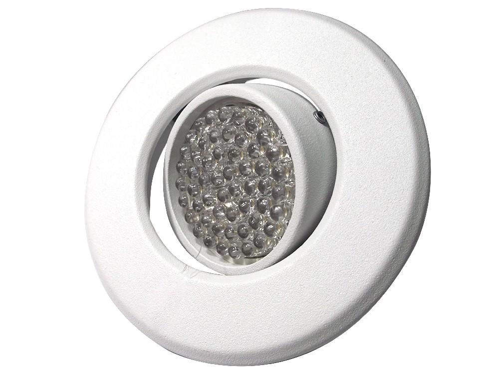 CONJUNTO  Lâmpada 54 LEDs GU10 + Spot Redondo Sistema Click em Alumínio Fundido com Pintura Eletrostática