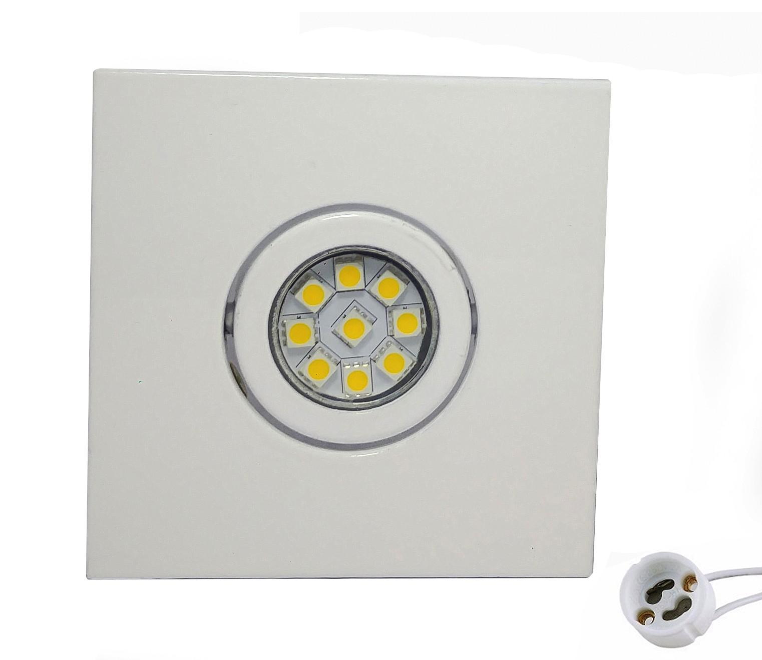 CONJUNTO - Mini Dicróica 9 LEDs 5050SMD 2W MR11 +  Spot Sistema Click em Alumínio Fundido com Pintura Eletrostática
