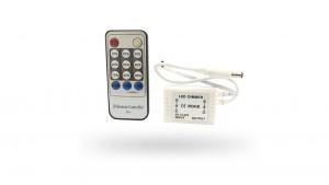 Dimmer P/ Fita LED de Cor Única - 6A C/ Controle Infravermelho