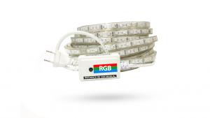 Conjunto - FITA LED 5050 IP67 (EXTERNA) 14,4W - 60LEDS /METRO - 127V - (PEDAÇO COM 5 METROS) - RGB + Cabo de alimentação