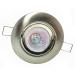 Conjunto  Spot de Ferro Redondo Basculante C/ Soquete GU10  + Lâmpada Dicróica Halógena GU10 50W (Sem reator) - 127V