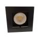 CONJ - Lâmp 6W GU10 + Spot Fundo Recuado - Quadrado - Preto