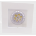 CONJUNTO - Lâmpada 8W GU10 Dimerizável + Spot Sistema Click em Alumínio Fundido com Pintura Eletrostática